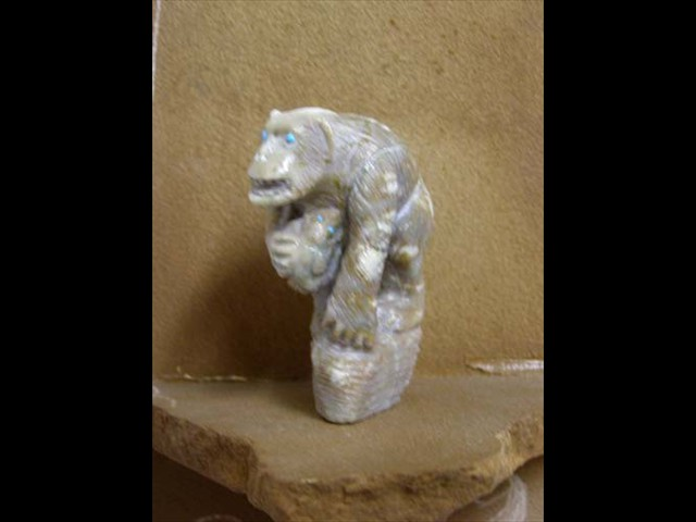 Picasso Marble gorilla & Baby
