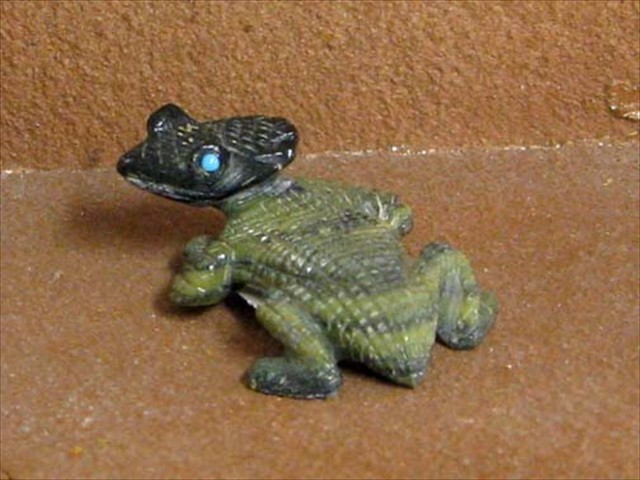 Serpentine horned toad