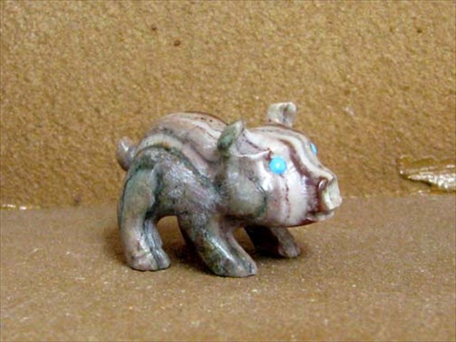 Sitting Pig Picasso Marble