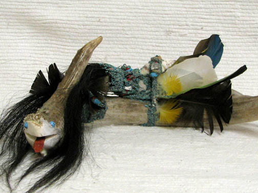 Zuni Carved Water Serpent (Avanyu) by Unknown Zuni Artist