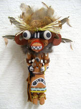 Old Style Hopi Carved Bear (Hon) Traditional Powerful Warrior Katsina Doll by Bryan Nasetoynewa