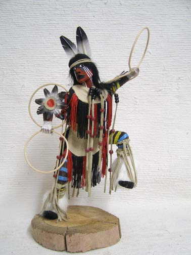 Native American Made Hoop Dancer Katsina Doll by Sammie Walker (Navajo-Hopi)