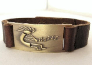 Kokopelli Leather Bracelet