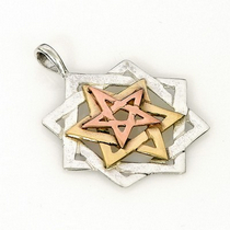Silver and Gold Necklace - Tikkun Chava (Eve's Tikkun)
