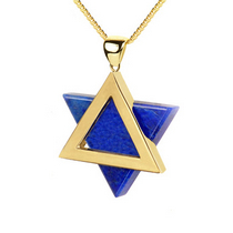 Star of David: 14K Gold & Lapis Lazuli Pendant